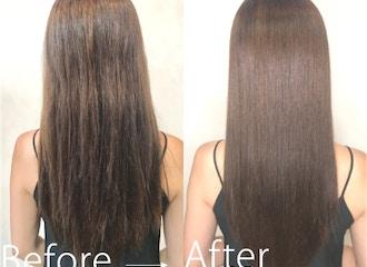 """話題のりんご幹細胞取扱サロン <br>新時代""""髪質改善""""<br>トリートメントの限界を超えて<br>人生で一番の美髪へ"""