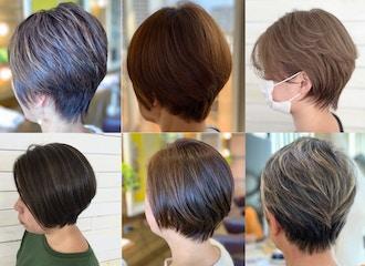 お客様の60~70%は明るく白髪を染めています◎