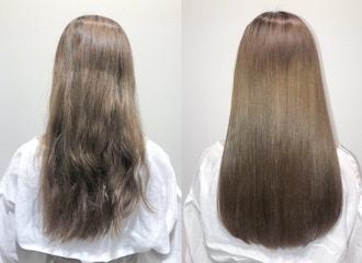 髪の毛を真っ直ぐにするだけの<br>縮毛矯正はもう古い!<br>脱!ピンピンストレート<br>髪も巻ける柔らかさに