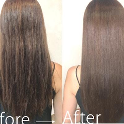 【髪質改善】カット+ダメージレスカラー+りんご幹細胞Tr