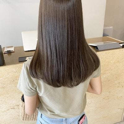ご新規様限定♪【色持ちUP◎】90%痛み軽減カラー+カット+髪質改善ケアトリートメント