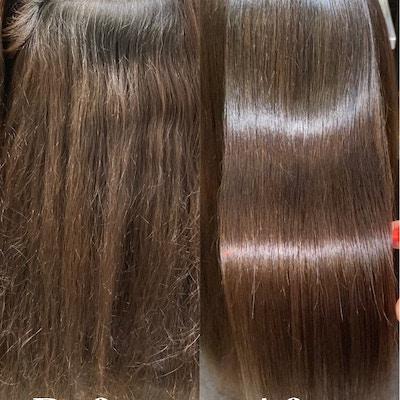 【縮毛矯正&カラー】<br>カット+縮毛矯正+美髪カラー+頭皮デトックス+髪の柔軟剤