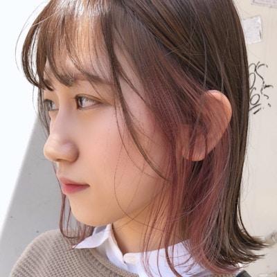 【人気No.2】カット+全体カラー+イヤリングカラー