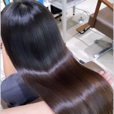 【ツヤ髪コース】<br >カット+全体カラー+髪質改善プラチナトリートメント