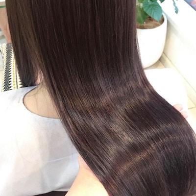 【サラ艶美髪♪】パールジュエリープラチナ縮毛矯正+カット