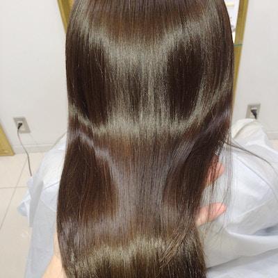 縮毛矯正+髪質改善プラチナトリートメント+カット