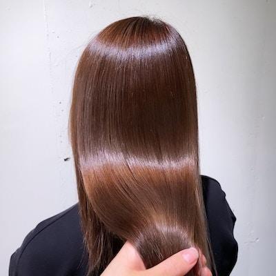 【オープン記念クーポン】<br>カット+カラー+髪質改善パールプラチナトリートメント