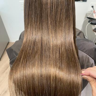 【人気No1 光輝く美オーラ髪】カット+髪質改善カラー+超音波トリートメント