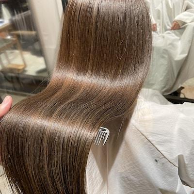 【本格派髪質改善メニュー】カット+透明感カラー+Aujua極TR+超音波ケアプロ ¥24530円→¥14700円