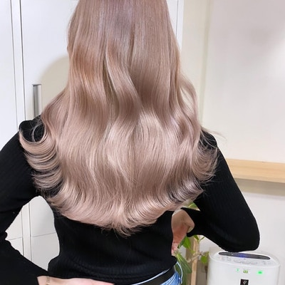 【透明感・艶髪】<br>ダブルカラー(1ブリーチ+フルカラー)