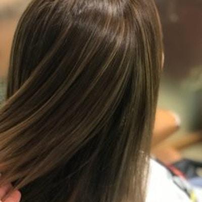 ■人気No.2■ カラーもケアもオススメを! 潤ツヤカラー+髪質改善オージュアトリートメント