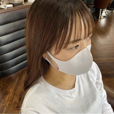 【マスク映え】<br>前髪カット+顔周りの縮毛矯正
