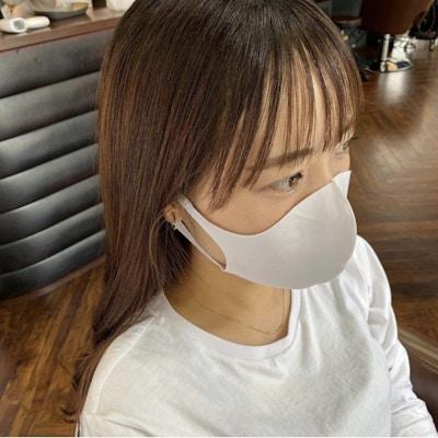 【マスク映え】<br />前髪カット+顔周りの縮毛矯正+トリートメント