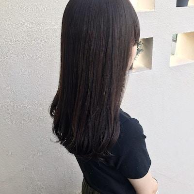 【夏の湿気対策 髪質改善】<br>素髪のような縮毛矯正+透明感カラー+カット