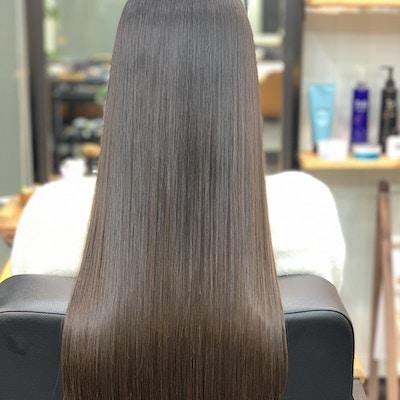 人気No.1【髪質改善カラー*】<br>サイエンスアクアトリートメントカラー♪<br>極上の艶髪に☆
