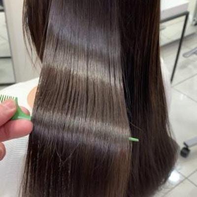 カット+髪質改善ストレート
