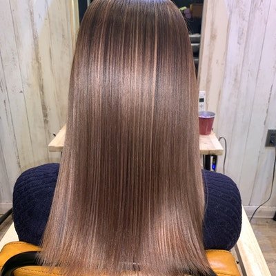 【史上最高の艶髪を手にするならコチラ】Cut+髪質改善縮毛矯正+高濃度水素《ULTOWAトリートメント》+炭酸泉