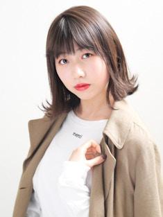 【MODEK's調布】イルミナカラー風ブランジュ外ハネミディ