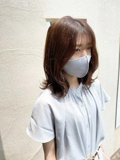 【マスク映え】前髪カット+顔周りの縮毛矯正