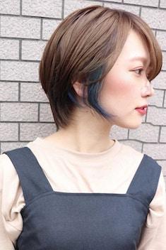 Lia&汐見悠佑 イヤリングカラー&ハンサムショート
