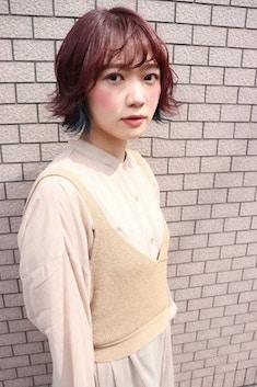 Lia&汐見悠佑 大人かわいい外ハネ&インナーカラー