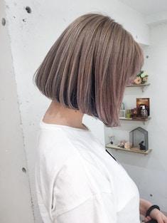フレンチボブ/美髪透明感ベージュカラー