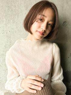【nana】第一印象抜群◎ナチュラルボブ×モテブラウン