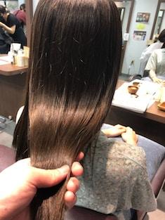 酸性縮毛矯正×ココアブラウン