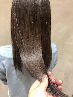 酸性縮毛矯正×つや髪×ココアブラウン