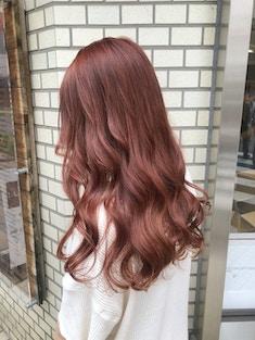 オレンジブラウンヘア
