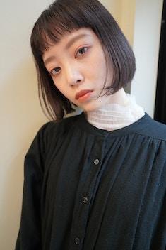 ミニボブ/黒髪/ショートヘア/オン眉/20代30代40代