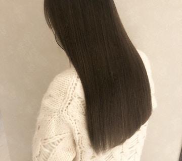 艶髪ロング×アッシュブラウン×透明感カラー
