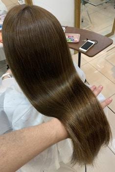【髪質改善】理想の髪質へ パールプラチナストレート トリートメント