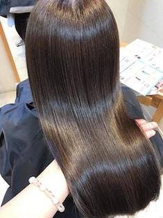 透明感カラー+インナーカラー+髪質改善プラチナトリートメント