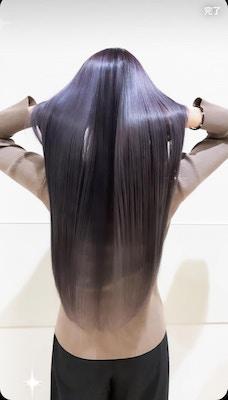 プレミアムラベンダー★ハイトーンの艶髪