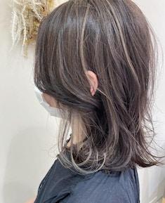 【marjuの上品ハイライト】白髪ぼかしハイライト