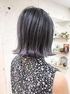 ネイビーカラー/外国人風美髪カラー